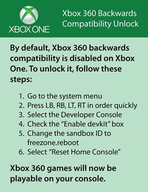 This is How to Totally Legit Not Brick Your Xbox One Console and Unlock Backwards Compatibility