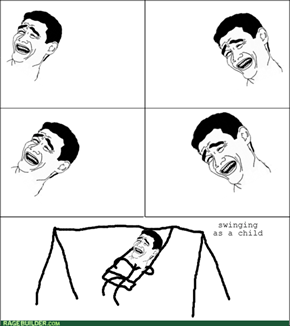 heh swings....