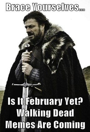 Brace Yourselves...  Is It February Yet? Walking Dead Memes Are Coming