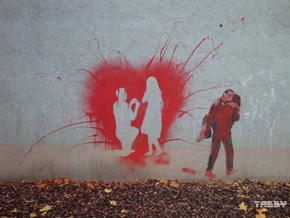 This Simple Street Art Captures Two Moments in Time