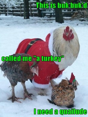 "This is buk buk'd called me ""a turkey"" I need a quailude"