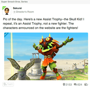 Skull Kid Coming to SSB as an Assist Trophy
