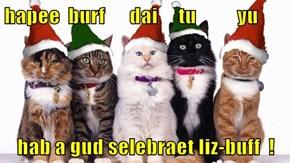hapee  burf      dai     tu          yu  hab a gud selebraet liz-buff  !