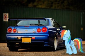 The R34 Datsun Skyline Rainbow Dash