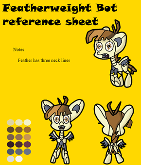 Feather bot reference sheet