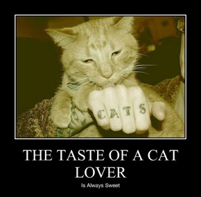 THE TASTE OF A CAT LOVER