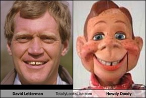 David Letterman Totally Looks Like Howdy Doody