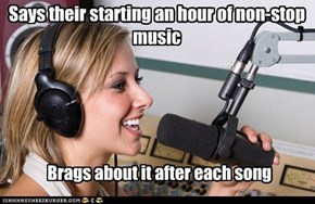 Says their starting an hour of non-stop music