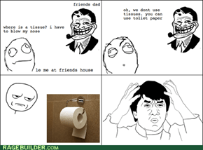 Tissue at le friends house