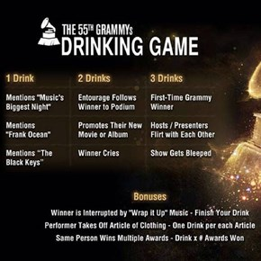 Ladies and Gentlemen, Prepare Your Livers! 2013 GRAMMYS DRINKING GAME!