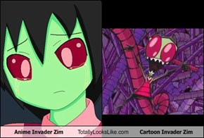 Anime Invader Zim Totally Looks Like Cartoon Invader Zim
