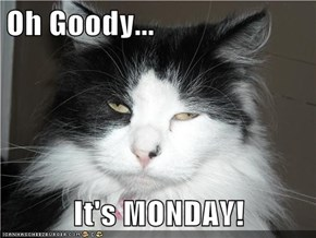 Oh Goody... It's MONDAY!
