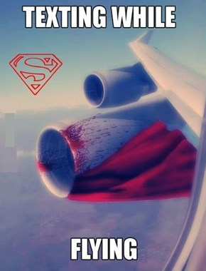 Superman Loved His iPhone