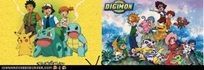 gen1 pokemon vs digimon adventures 1