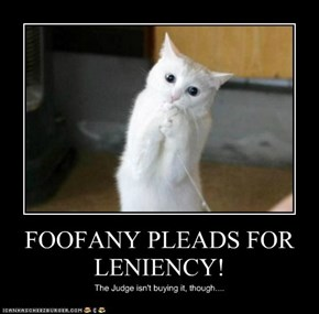 FOOFANY PLEADS FOR LENIENCY!