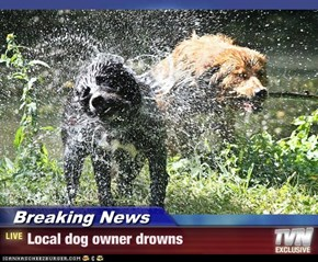Breaking News - Local dog owner drowns