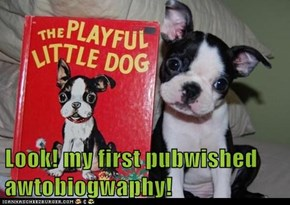 Look! my first pubwished awtobiogwaphy!