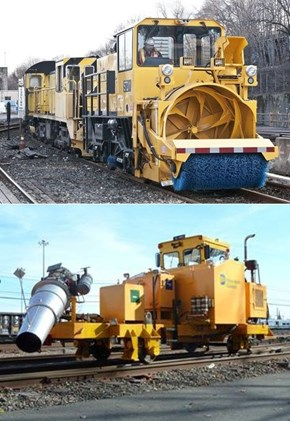 "New York City Metropolitan Transit Authority's ""Snow Clearing"" Train"