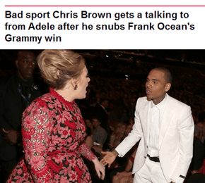 Adele is Having None of Your Sh*t, Chris Brown