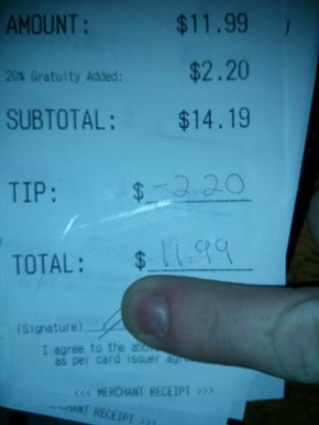 The Worst Service Deserves No Tip