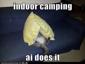 indoor camping  ai does it