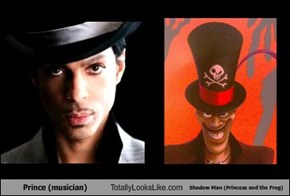 Prince (musician) Totally Looks Like Shadow Man (Princess and the Frog)