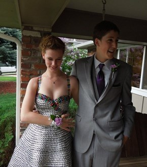 Would You Go to Prom in a Dress Made Out of Soda Can Tabs?