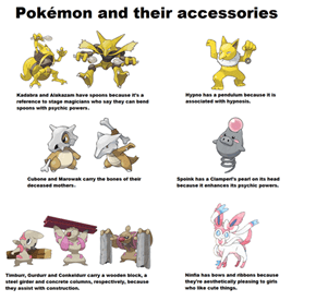 Pokémon and their accessories