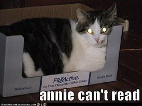 annie can't read
