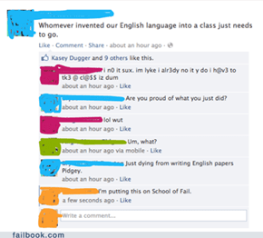No one knows English in America.