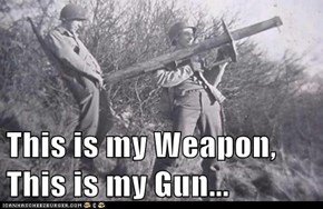 This is my Weapon, This is my Gun...