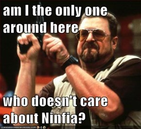am I the only one around here  who doesn't care about Ninfia?