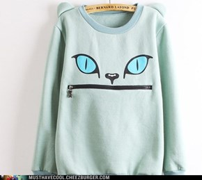 BIG MOUTH CAT SWEATSHIRT