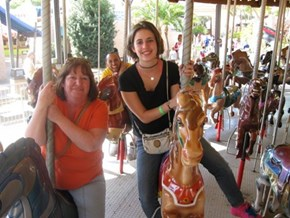 Disney Carousel photobomb!