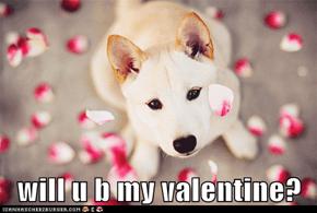 will u b my valentine?