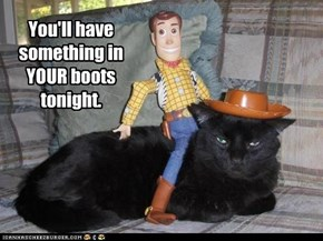You'll have something in YOUR boots tonight.