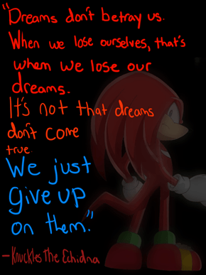 Wise Words from Knuckles