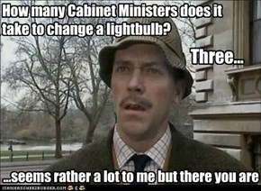 How many Cabinet Ministers does it take to change a lightbulb?
