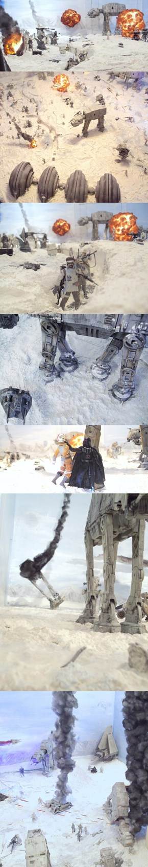 This Guy Built a Replica of the Battle of Hoth in his Living Room