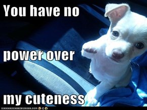You have no power over my cuteness