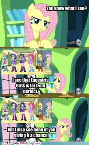 Equestria Girls? Fluttershy's view.