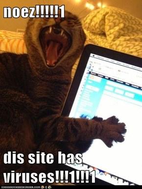 noez!!!!!1  dis site has viruses!!!1!!!1