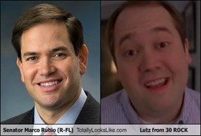 Senator Marco Rubio (R-FL) Totally Looks Like Lutz from 30 ROCK