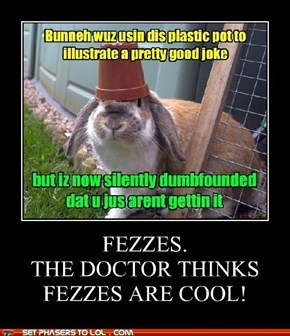 Doctor Bunny likes to wear a Fez