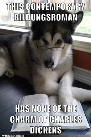 Literary Snob Dog