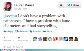 Well said, Miss Faust, well said.