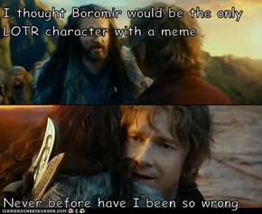 I thought Boromir would be the only LOTR character with a meme  Never before have I been so wrong.
