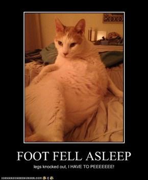 FOOT FELL ASLEEP