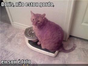 Doris, não estou gordo,  eu sou é fofo