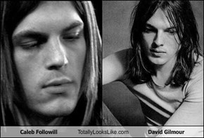 Caleb Followill totally looks like David Gilmour.
